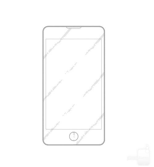 iPhone-like Samsung phone design patent