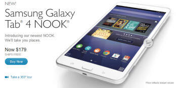 Samsung and Barnes & Noble unveil Galaxy Tab 4 Nook tablet: a $179 7 incher with $200 worth of free content