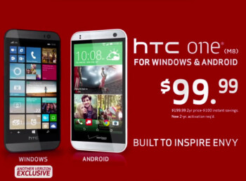 Phone on the right is really the HTC One Remix, not the Android powered HTC One (M8)