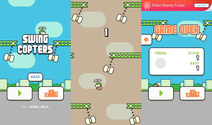 Swing Copters by Dong Nguyen is out and it's ridiculously hard: what's your high score?