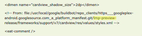 Android L SDK code