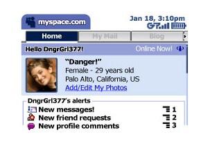 MySpace mobile for T-Mobile SideKick