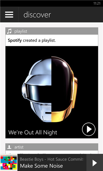Spotify on Windows Phone now allows you to stream music for free