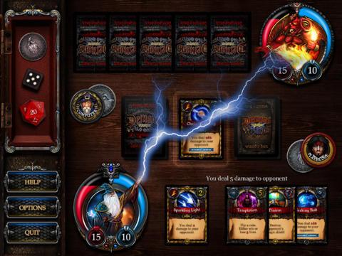 Demons vs. Wizards Magic Card & Dice Game - free