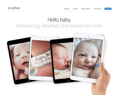 How to introduce your newborn baby to the world (Apple fanboy tutorial)