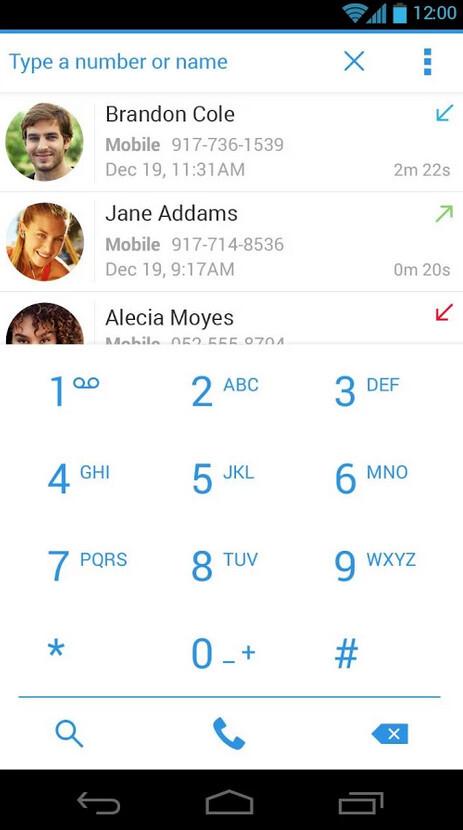Dialer + screenshots