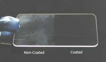 Lack of oleophobic coating on displays