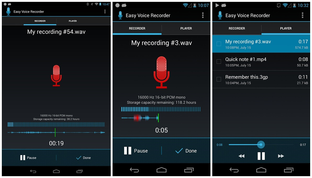 التسجيل Easy Voice Recorder v2.3.2 2016 Easy-Voice-Recorder.