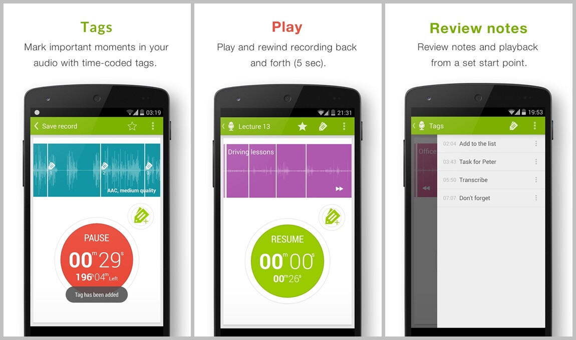 the best voice recording apps for android to bring to