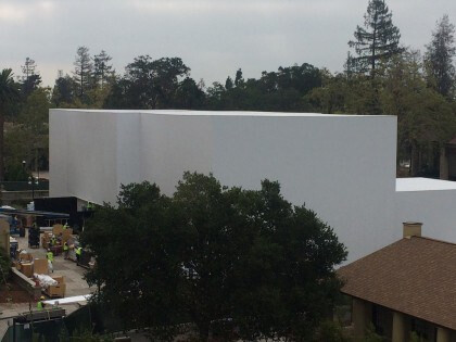Preparations for the September 9th Apple event at the Flint Center have already started