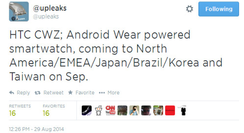 Alleged HTC Desire 820 specs leaked, plus details on two HTC smartwatches