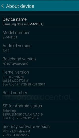 Samsung Galaxy Note 4 design hidden by case