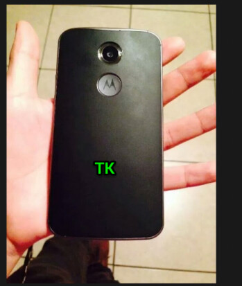 Moto X+1 with leather back caught on camera