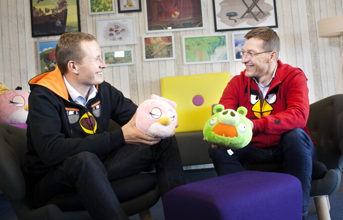Mikael Hed (left) and Pekka Rantala (right) have begun a transition where Pakka will assume the role of CEO of Rovio Janurary of next year.  Hed will lead Rovio Animation Studios - Angry Birds maker Rovio to replace CEO