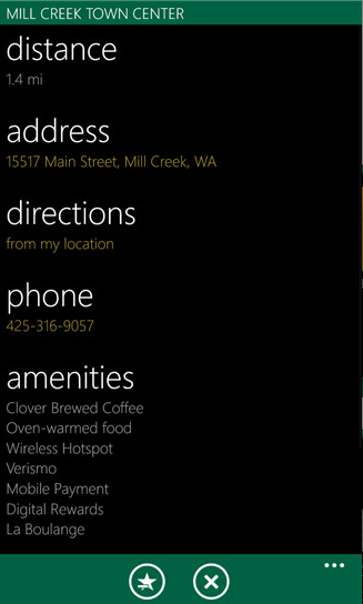 Screenshots from the Windows Phone app MyBucks