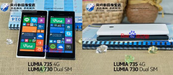 Leaked images of the Lumia 730