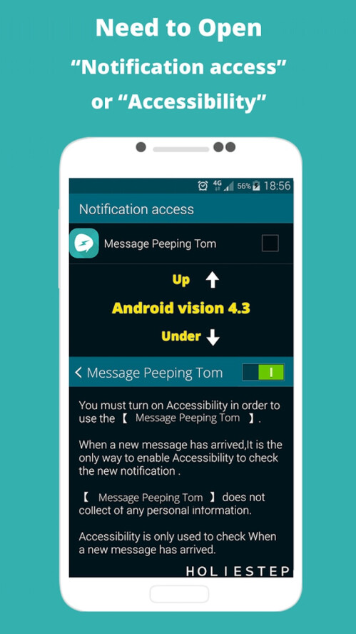 Message Peeping Tom Android app