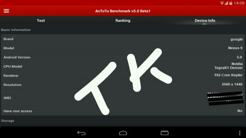 9-inch Nexus tablet benchmarked