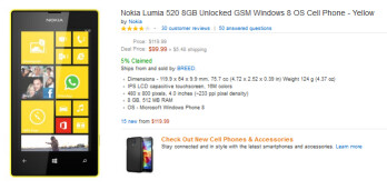 Buy the Nokia Lumia 520 from Amazon right now, for $99.99