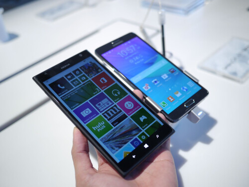 Samsung Galaxy Note 4 vs Nokia Lumia 1520: first look