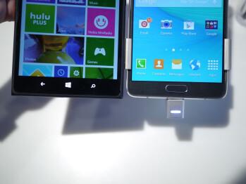 Samsung Galaxy Note 4 vs Nokia Lumia 1520: first look