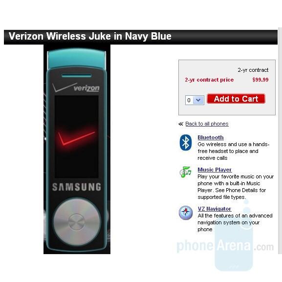 Samsung Juke - Samsung Gleam and Motorola Z6tv come tomorrow, Juke gets price