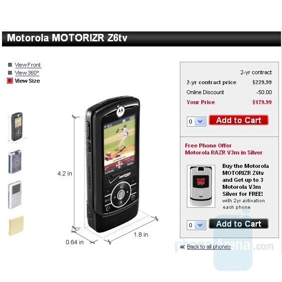 Motorola RIZR Z6tv - Samsung Gleam and Motorola Z6tv come tomorrow, Juke gets price