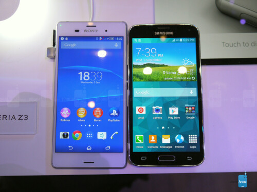 Sony Xperia Z3 vs Galaxy S5 - first look