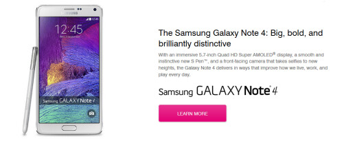 You could win a Samsung Galaxy Note 4 from Samsung and T-Mobile