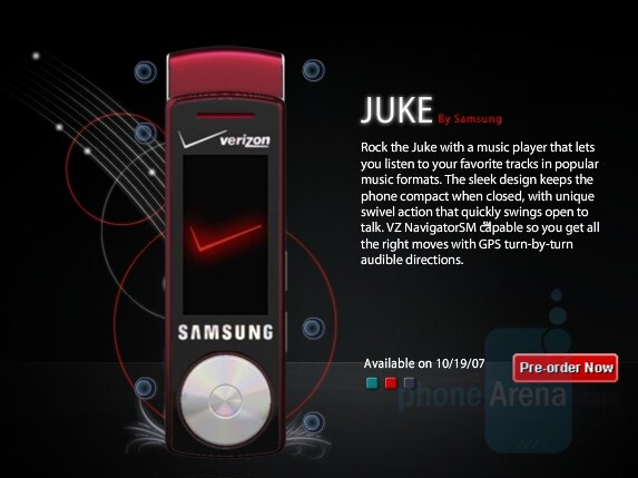 Samsung Juke available for pre-order