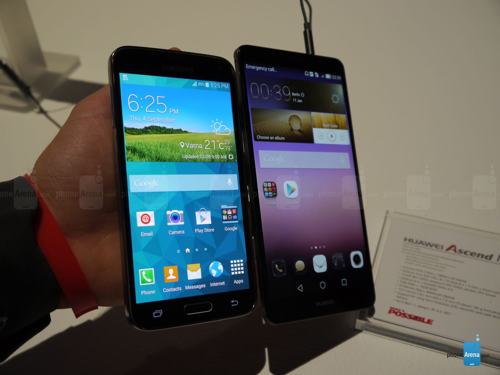 Huawei Ascend Mate 7 vs Samsung Galaxy S5: first look ...