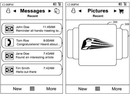 Microsoft with a patent for new user interface