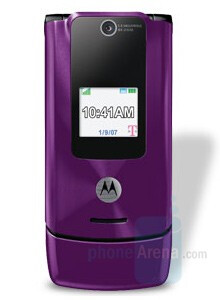 Purple Motorola W490 - T-Mobile launches Sidekick LX and Motorola W490 in several new colors