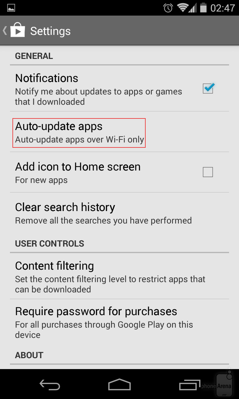 How To Disable App Auto Updates On Android Image From How To Turn Off Auto  Updates How To Clear Browser History