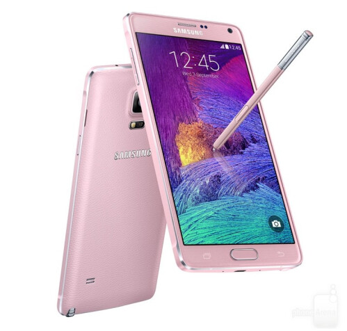 Samsung Galaxy Note 4 in pink