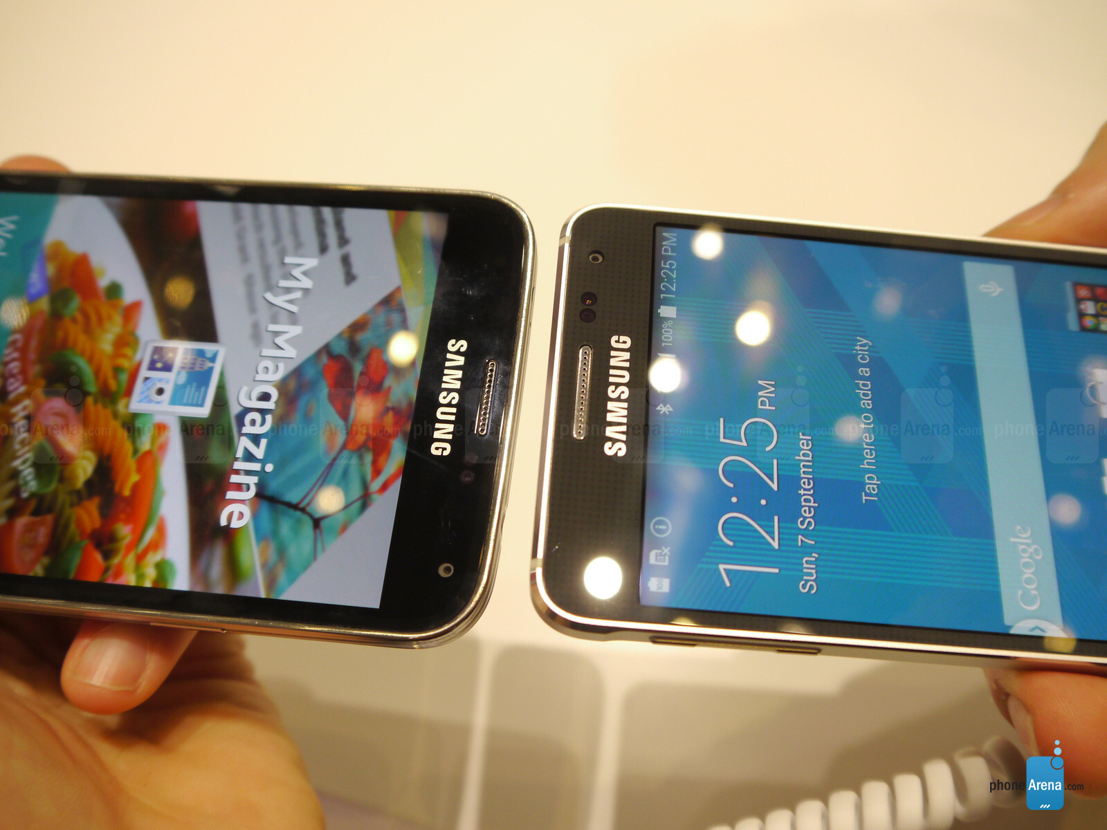 Galaxy Alpha Vs S5 samsung galaxy alpha vs samsung galaxy s5: first look