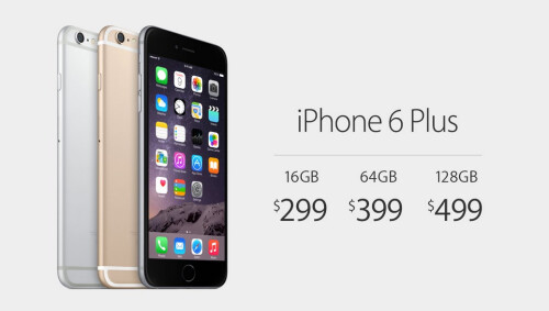 Apple iPhone 6 Plus carrier pricing in the US