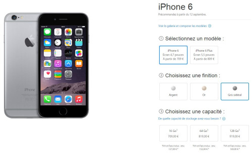 Apple iPhone 6 pricing in France