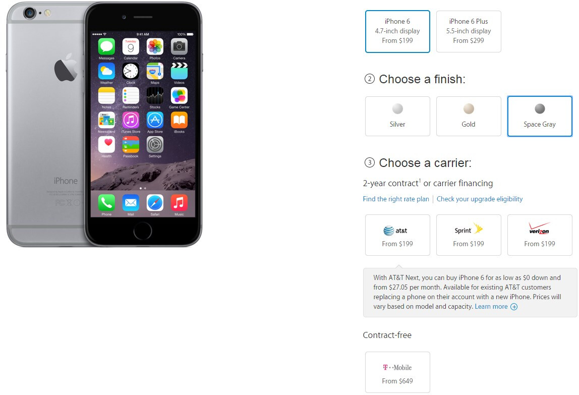 apple iphone 6 and 6 plus full price and release dates in