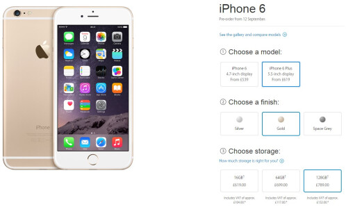 Apple iPhone 6 Plus pricing in UK