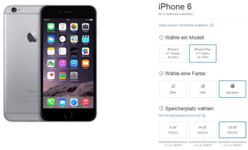 Apple iPhone 6 pricing in Germany