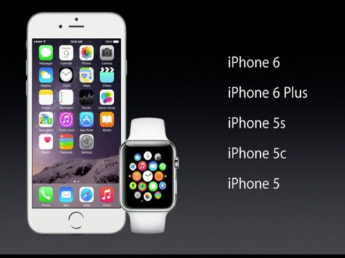 Apple Watch will work with iPhone 5 and later