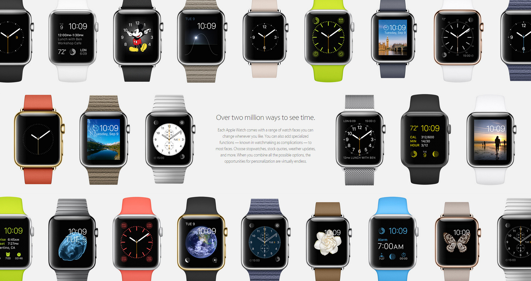All of the watch faces...