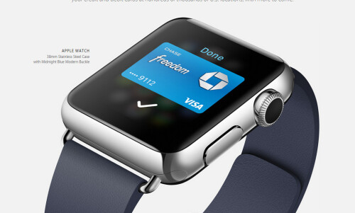 Apple Pay will work with Apple Watch