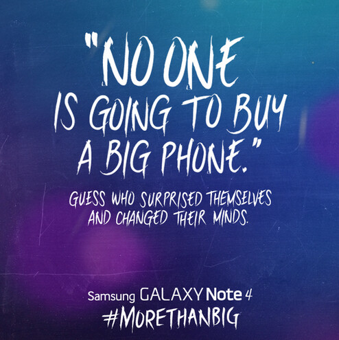 Samsung quotes Steve Jobs famously incorrect statement about big phones - Samsung takes a shot at Apple after larger-screened iPhone models are unveiled