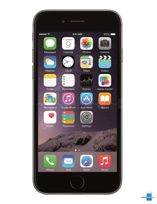 Apple iPhone 6, 65.71% screen-to-size ratio