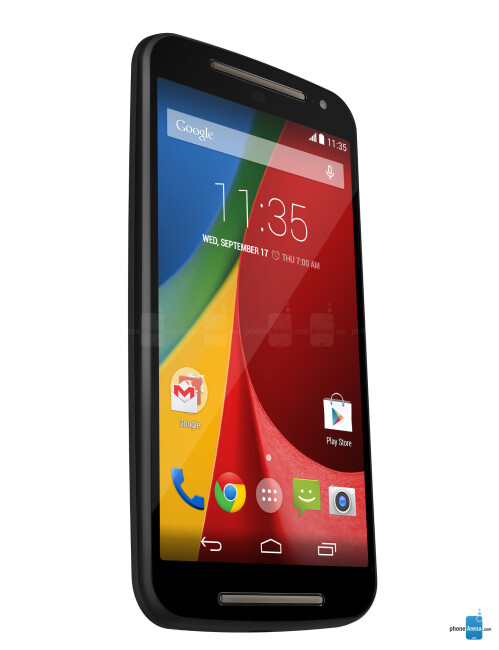 Motorola Moto G (2014), 68.99% screen-to-size ratio