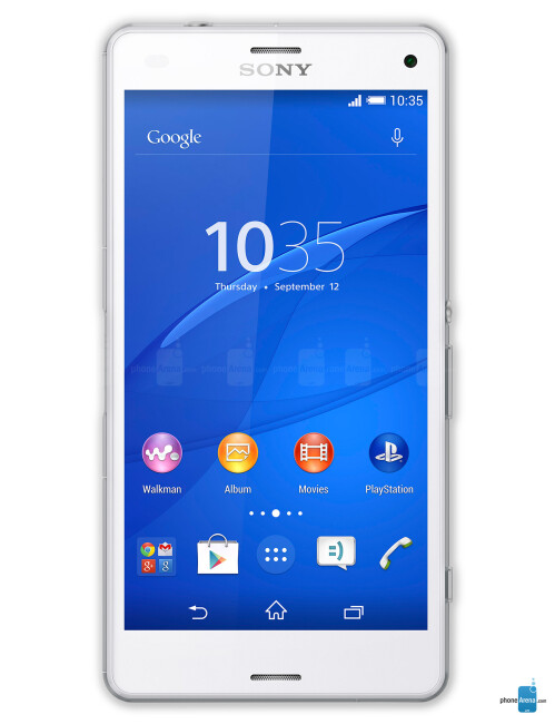 Sony Xperia Z3 Compact, 70.5% screen-to-size ratio