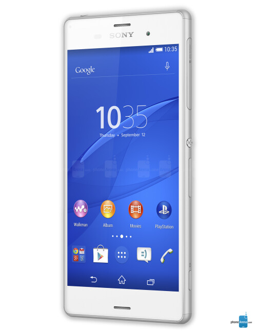 Sony Xperia Z3, 71% screen-to-size ratio