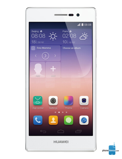 Huawei Ascend P7, 71.67% screen-to-size ratio